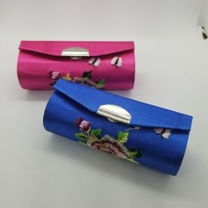 Lipstick Cases With Mirrors Blue Pink AsianNew